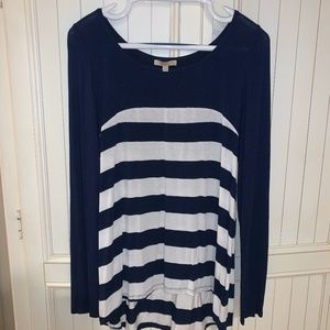 Anthropologie Bordeaux Striped Shirt